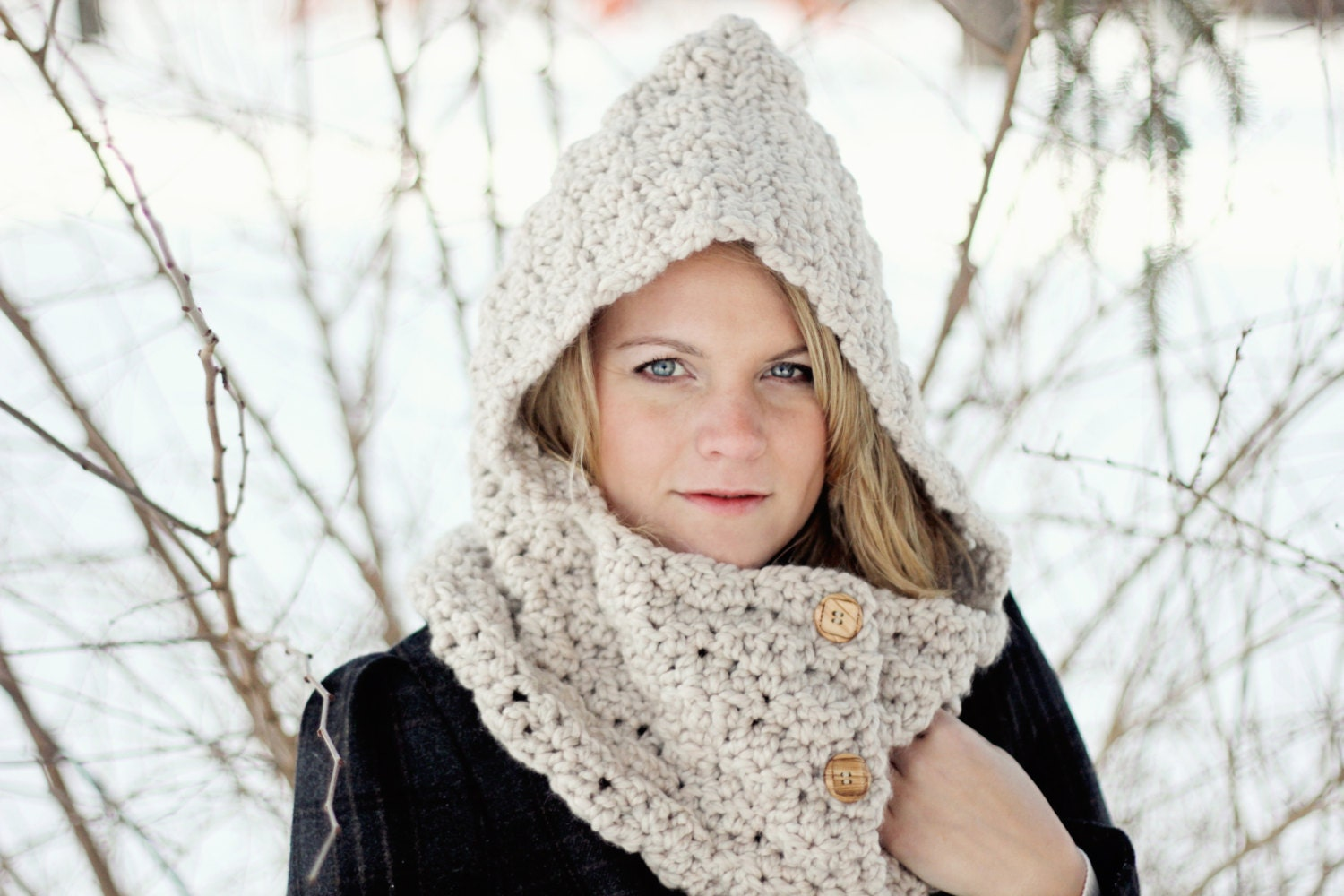 Outstanding Free Crochet Cowl Hood Pattern Images - Easy Scarf ...