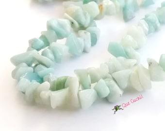 Long Necklace of chinese Amazonite