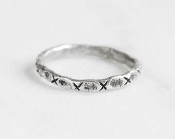 Little x silver ring