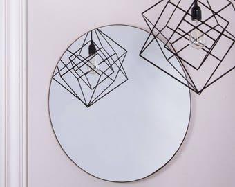 40cm Diameter Circular Wall Mirror