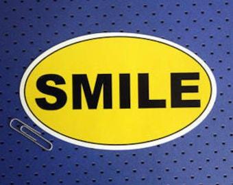 Smile Oval bumper Sticker
