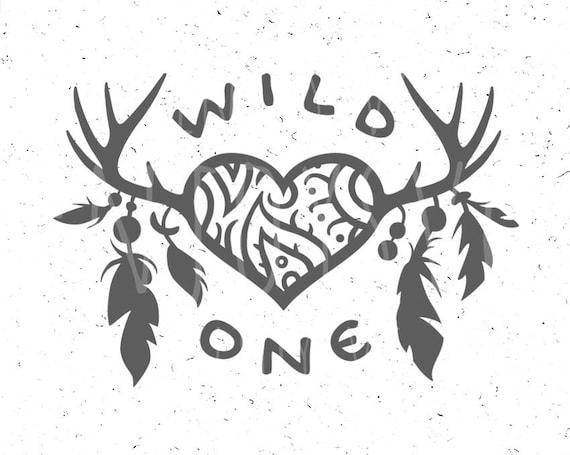 Wild One Svg Feathers Svg Wild One Svg File Horns Svg Baby Svg