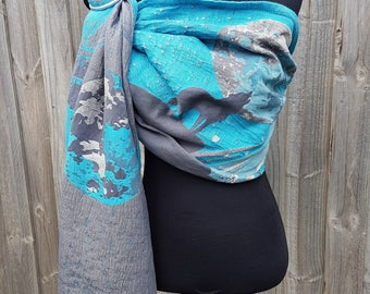 Wrap Conversion ring sling - Natibaby Wolf Tale 2