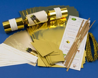 Christmas crackers etsy 8 gold foil champagne make fill your own party crackers craft kit choice of solutioingenieria Images