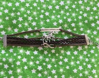 Braided Horse Bracelet