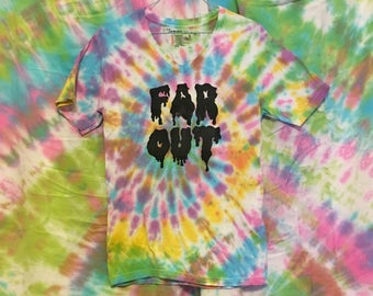 """FAR OUT """"Freaky Juice"""" Tie-Dye V Neck Tee *RECYCLED*"""