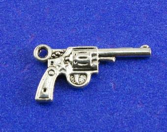 6 pcs- Sliver Pistol, Antiqued Sliver Gun, Revolver, Six Shooter
