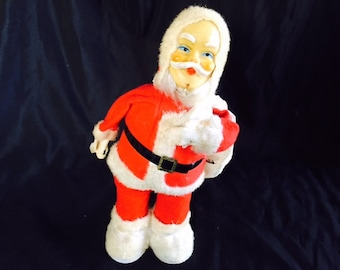 Vintage Christmas wind-up Santa -- Japan