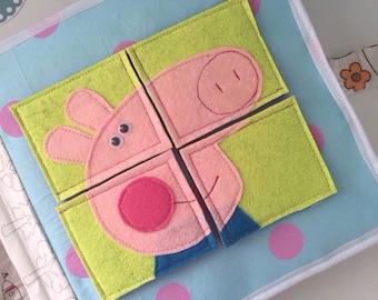 Peppa Pig handmade quiet book for children