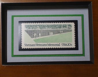 Vietnam Veterans Memorial Vintage Framed Stamp - No. 2109