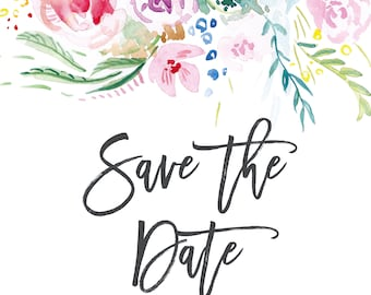 Save the Date; Printable or set of 25