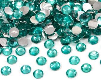 Aquamarine Resin Rhinestones for Embellishments and Nail Art 3-6mm