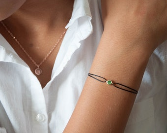 Tsavorite gemstone bracelet, 14 solid gold, gemstone bracelet