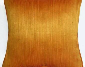 Golden orange  cotton.  pillow.  decorative golden orange  throw pillow.  cover. Dark mustard pillow      summer pillow case 16inches.