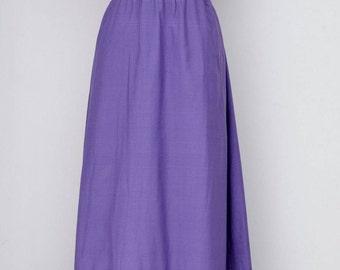 Vintage NANI maxi dress, BOHO Hippy chic, embroidered, lavender ~ size S-M