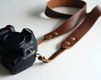 Horween leather camera strap /  camera strap - fixed length