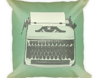 Retro Typewriter Square Pillow