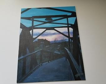 Autumn Sunset - Acrylic painting - Original Art - Wyoming