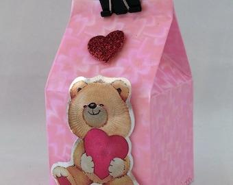 Valentine's Day-packaging, gift bag, milk carton