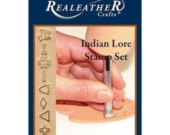 Realeather Crafts Leathercraft Indian Lore Leather Stamp Set T4907 8 Stamps