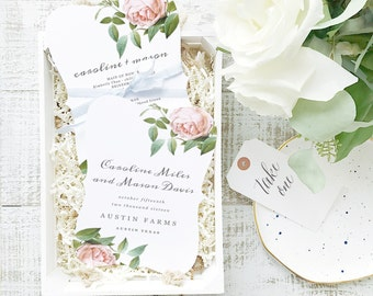 INSTANT DOWNLOAD Wedding Program Template  | Vintage Botanical | Printable | Flat 5x7 Double Sided | Editable Colors | Word & Pages