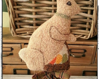 E-Pattern ~ Punch Needle ~ Wooly Easter Bunny ~  PDF Instant Download