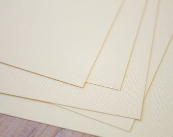 Ivory Canvas Fresh Pale Cream Card Stock 240gsm 90lb cover