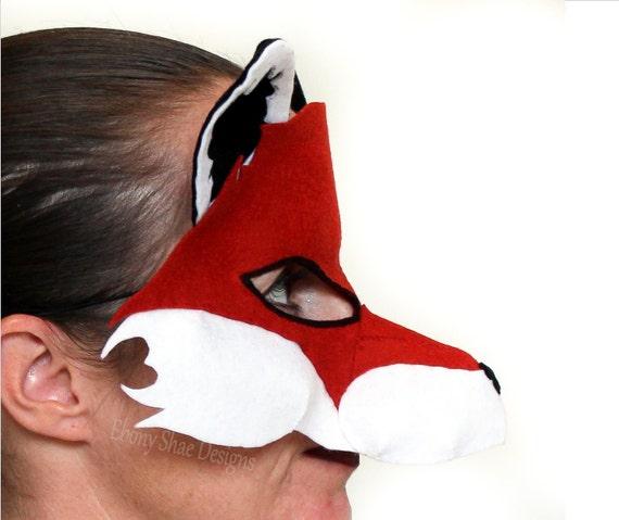 Fox Mask PATTERN // Kids Animal Mask Sewing Pattern // DIY