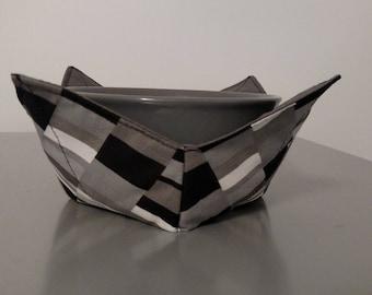 Bowl Holder - Black/Gray Geometric