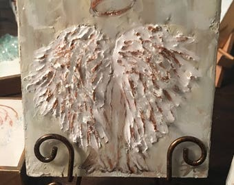 Hand Painted Textured Back Angel