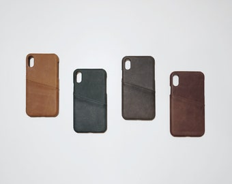 iPhone X iPhoneX Leather Phone Case Card Holder Wallet Slim