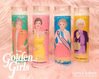 The Golden Girls FULL SET! // 7 Day Altar Candle, Saint Candle