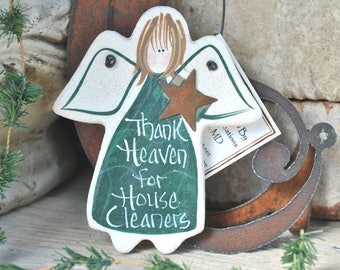 House Keeper / Housekeeper / House Cleaner Gift Salt Dough Ornament / Birthday / Xmas