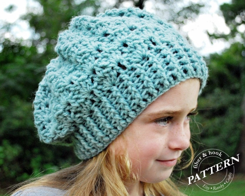 Crochet Pattern Snapdragon Slouch Hat Slouchy Beanie