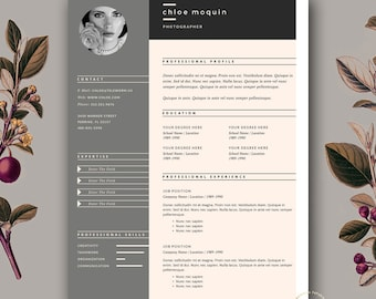 Resume Template And Cover Letter For Word U0026 Pages | 3 Page Resume Template  | Fashion