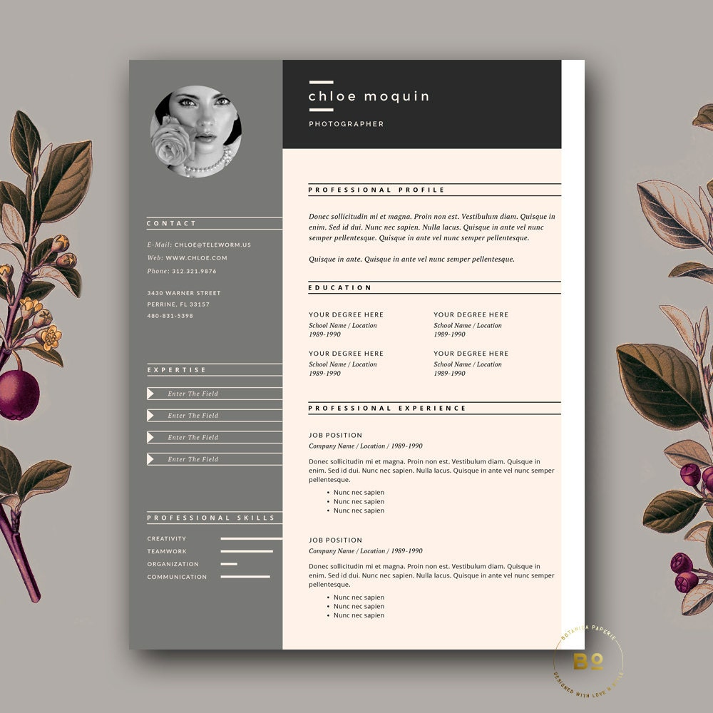 Resume Template And Cover Letter For Word Pages 3 Page