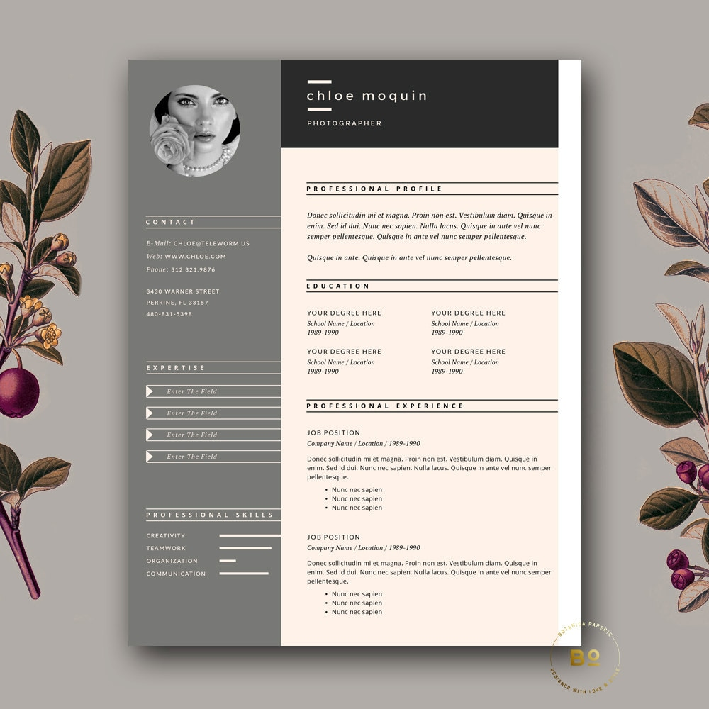 🔎zoom  Portfolio Word Template