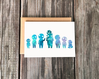 Cute Forest Spirit Art Greeting Card