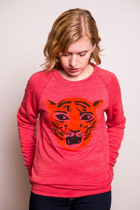 Unisex Crying Tiger Sweatshirt