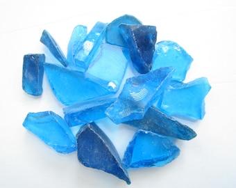 Aqua Glass Pieces-Glass-Terrarium Glass-Broken Glass for Crafts-Beach Home Decor-Glass Pieces Bulk-Recycled Glass Pieces-Beach Glass