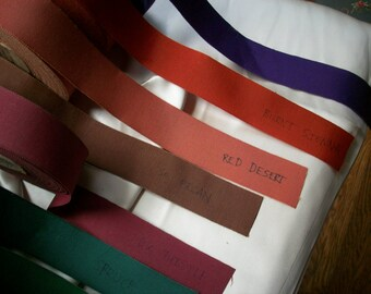 "Vintage cotton and rayon 1 1/2"" petersham ribbon"