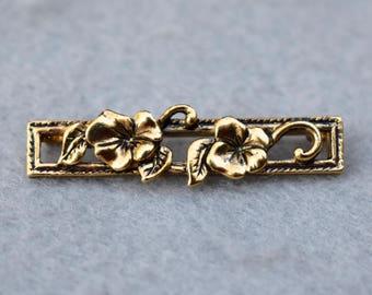 Avon Floral Bar Pin Vintage