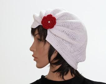 White knittet Caps and Beanies Winter Cap Winter Beanie Knitted HatsHat Women's Crochet Hat Beret and Hat Knitted Hat Beanie Women Hat