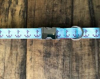 Anchor Butterfly Dog Collar, Sew Fetch Dog Collar, Dog Collar, Nautical Dog Collar, Girly Dog Collar, Pretty Dog Collar