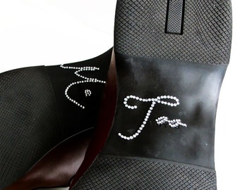 Grooms Gift Shoe Sticker with Me Too Scripted Silver