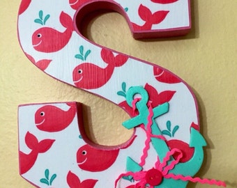 Nursery Wooden Letter Personalized (SOLD)