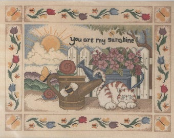 """You are My Sunshine Counted Cross Stitch  Kit  by Design Connection  15 1/2"""" x 11 1/2"""""""