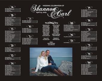 Wedding Seating Chart Digital File