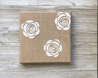 Burlap Roses Canvas
