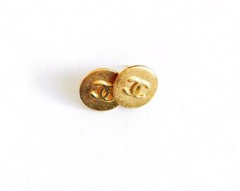 Vintage Gold Designer Button Studs